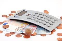 Calculadora del dinero Foto de archivo libre de regalías