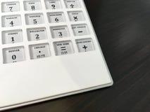 Calculadora del presupuesto que viaja Fotografía de archivo libre de regalías