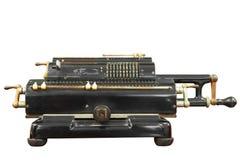 Calculadora del vintage con la trayectoria de recortes Fotografía de archivo libre de regalías