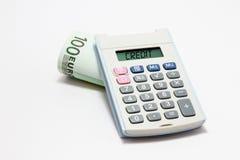 Calculadora do crédito Imagens de Stock