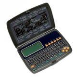 Calculadora do gerente com fusos horários do mundo Fotos de Stock