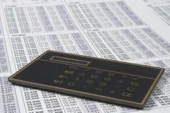 Calculadora do negócio imagens de stock