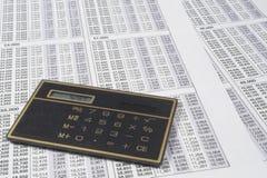 Calculadora do negócio fotografia de stock