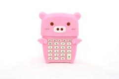 Calculadora do porco Imagens de Stock