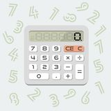 Calculadora do vetor Foto de Stock Royalty Free