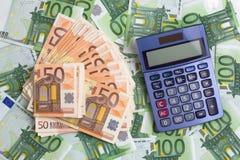 Calculadora e benefícios Imagem de Stock Royalty Free