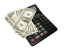 Calculadora e dinheiro Imagem de Stock Royalty Free