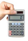 Calculadora electrónica Fotografía de archivo