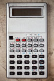 Calculadora electrónica vieja Fotografía de archivo