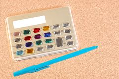 Calculadora eletrônica à moda Imagens de Stock Royalty Free