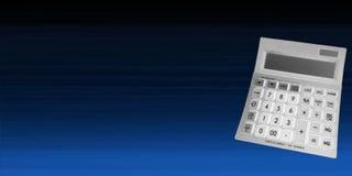 Calculadora em um fundo azul imagens de stock royalty free