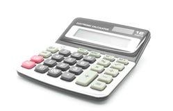 Calculadora em um fundo branco Imagem de Stock