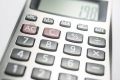 Calculadora en blanco Imagen de archivo libre de regalías