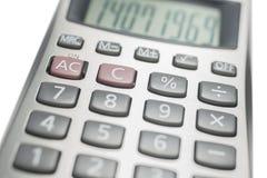 Calculadora en blanco Imagenes de archivo