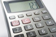 Calculadora en blanco Fotos de archivo libres de regalías