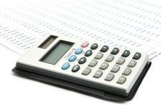 Calculadora en diagrama Foto de archivo libre de regalías