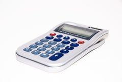 Calculadora en el fondo aislado blanco Imágenes de archivo libres de regalías
