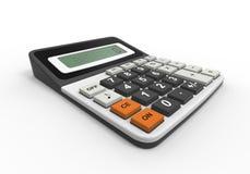 Calculadora en un fondo blanco Imágenes de archivo libres de regalías