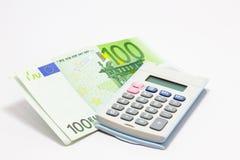Calculadora euro Fotografía de archivo