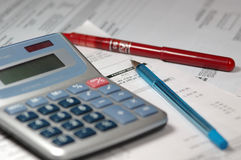 Calculadora financeira foto de stock royalty free
