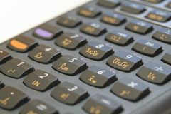 Calculadora financeira Foto de Stock