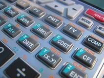Calculadora financiera Fotografía de archivo