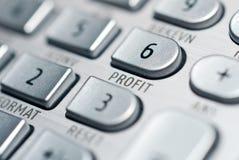 Calculadora financiera avanzada Imagenes de archivo