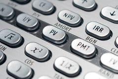 Calculadora financiera avanzada Fotos de archivo libres de regalías