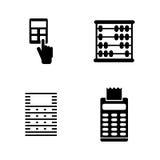 Calculadora Iconos relacionados simples del vector stock de ilustración
