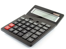 Calculadora isolada no fundo branco Fotos de Stock Royalty Free