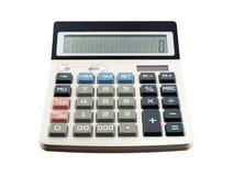 Calculadora isolada no fundo branco foto de stock