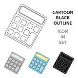 Calculadora Máquina para contar rapidamente dados math O único ícone da escola e da educação nos desenhos animados denomina o est ilustração do vetor