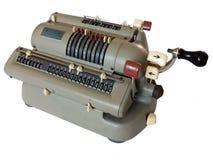 Calculadora manivela-operada mecânica Fotos de Stock