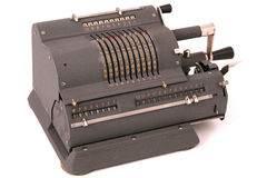 Calculadora mecânica fotografia de stock royalty free