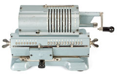 Calculadora mecânica do vintage fotografia de stock royalty free