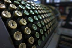 Calculadora muito velha Fotos de Stock Royalty Free