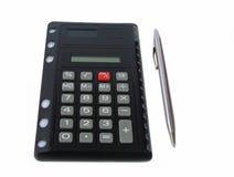 Calculadora negra imagen de archivo libre de regalías