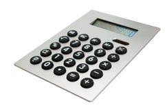 Calculadora no branco Fotos de Stock Royalty Free