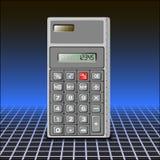 Calculadora no fundo abstrato Fotos de Stock Royalty Free