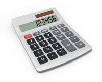 Calculadora, opinión del primer Foto de archivo libre de regalías