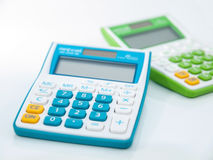 A calculadora para calcula Imagens de Stock