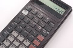 Calculadora portable Fotografía de archivo