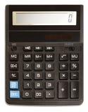 Calculadora preta Imagem de Stock Royalty Free