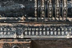 Calculadora preta metálica oxidada velha imagens de stock royalty free