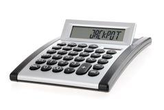 Calculadora que visualiza la palabra Foto de archivo libre de regalías