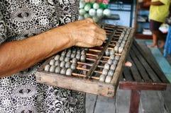 Calculadora retro chinesa Ábaco chinês Fotos de Stock