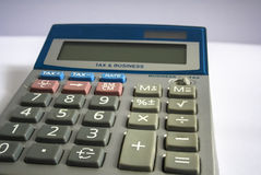Calculadora retro do imposto Fotos de Stock Royalty Free