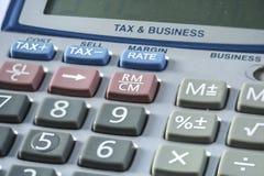 Calculadora retro do imposto Foto de Stock