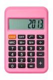 Calculadora rosada Foto de archivo libre de regalías