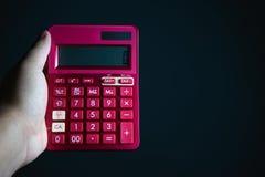 Calculadora rosada fotografía de archivo libre de regalías